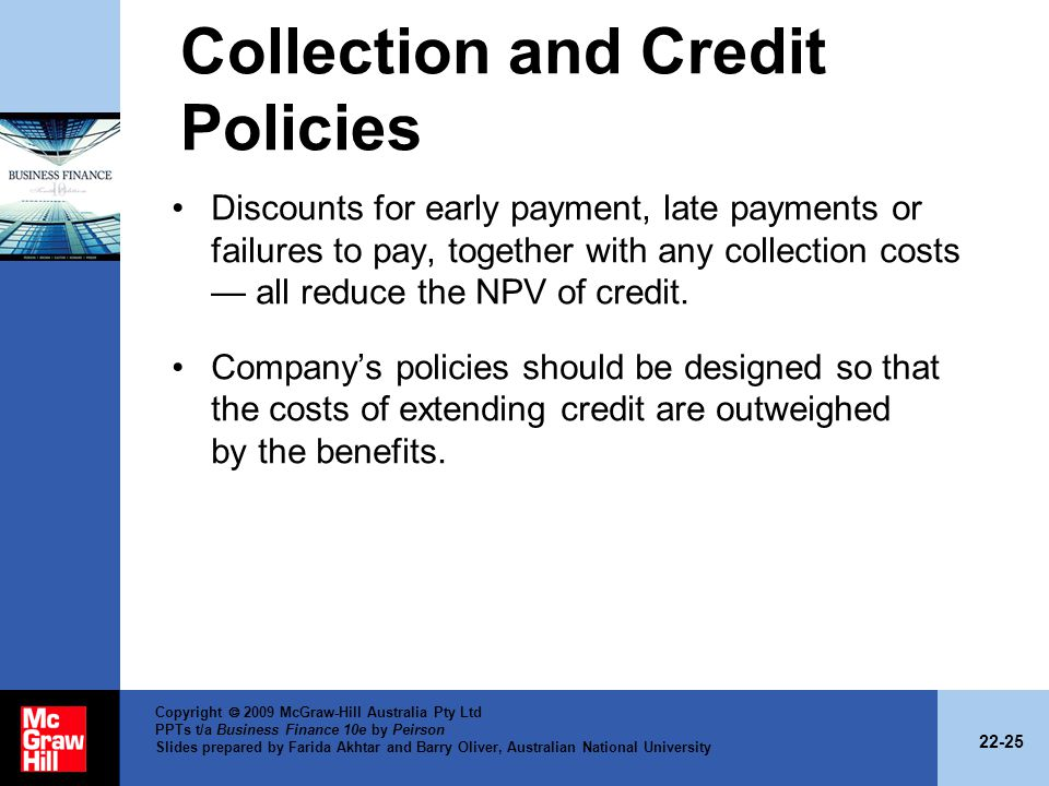 Collection and Credit Policies