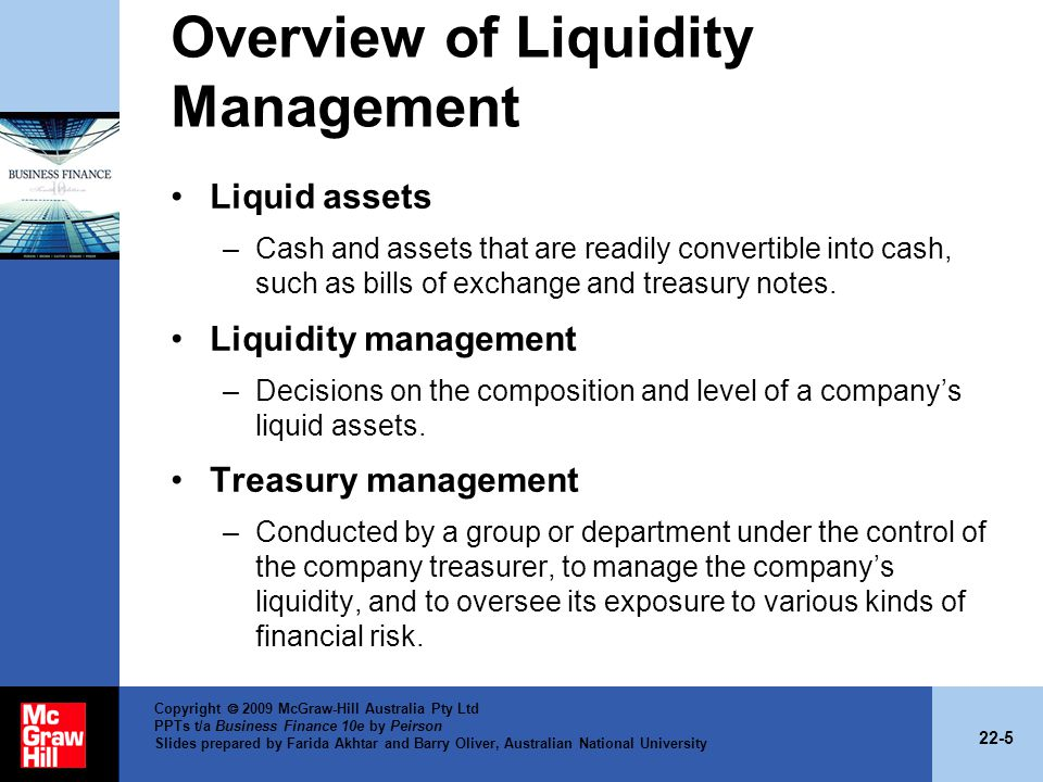 Overview of Liquidity Management