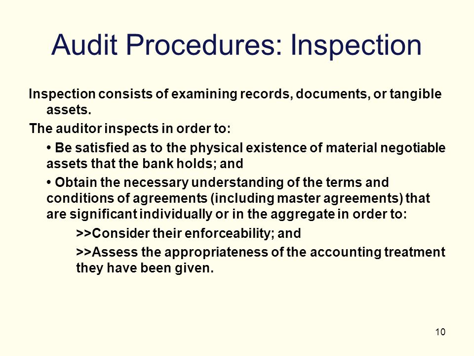 Audit Procedures: Inspection