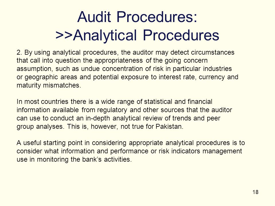 Audit Procedures: >>Analytical Procedures