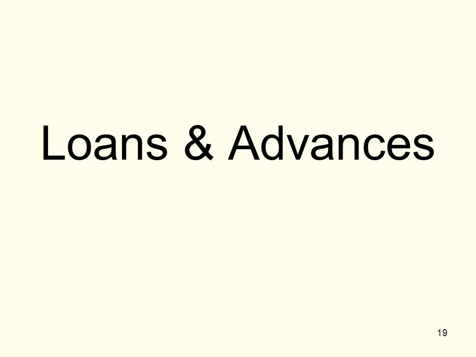 Loans & Advances