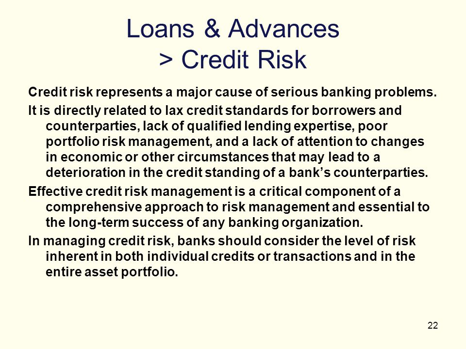 Loans & Advances > Credit Risk