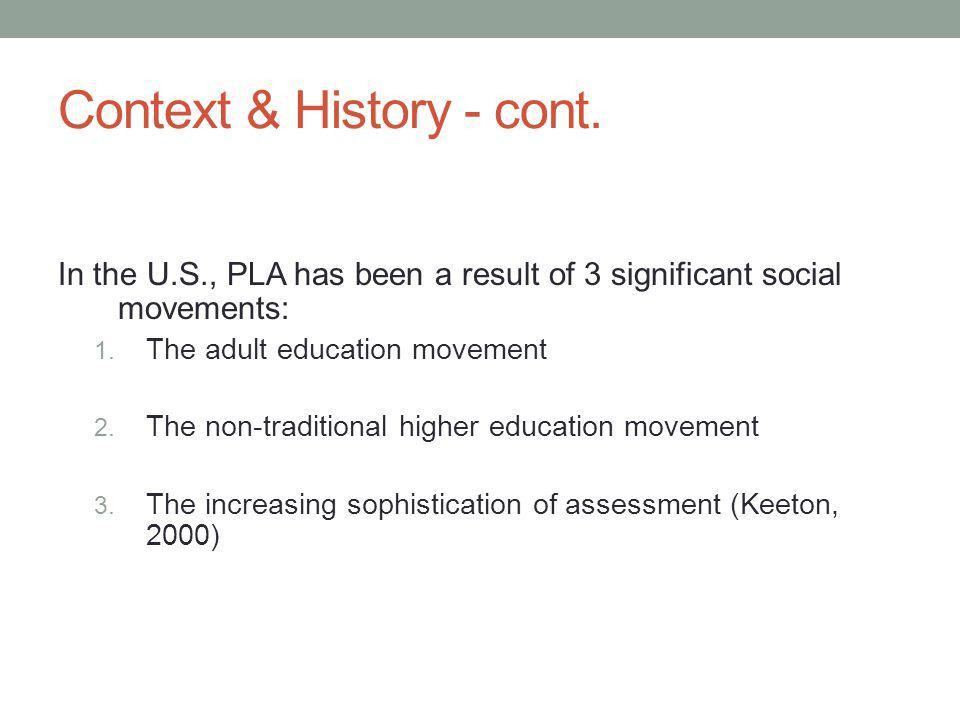 Context & History - cont.