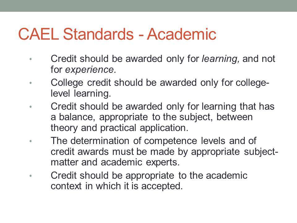 CAEL Standards - Academic