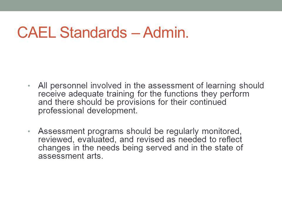 CAEL Standards – Admin.