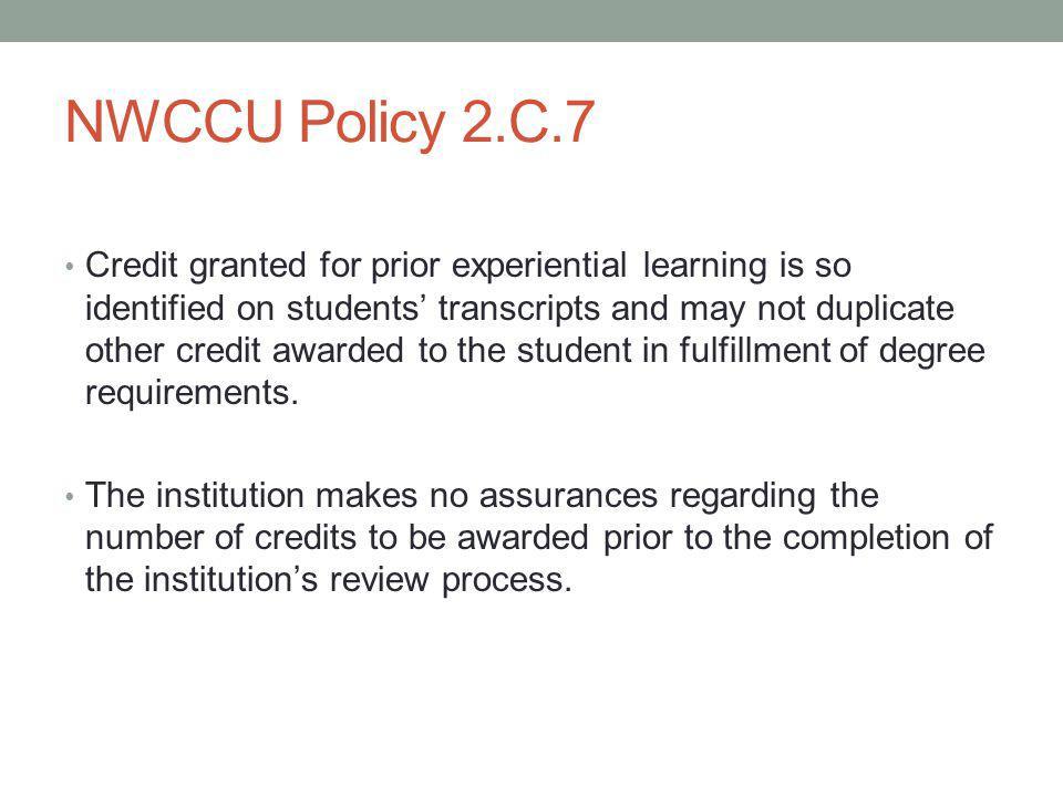 NWCCU Policy 2.C.7