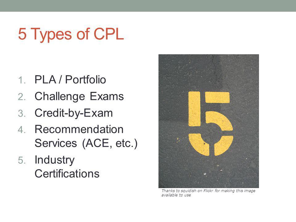 5 Types of CPL PLA / Portfolio Challenge Exams Credit-by-Exam