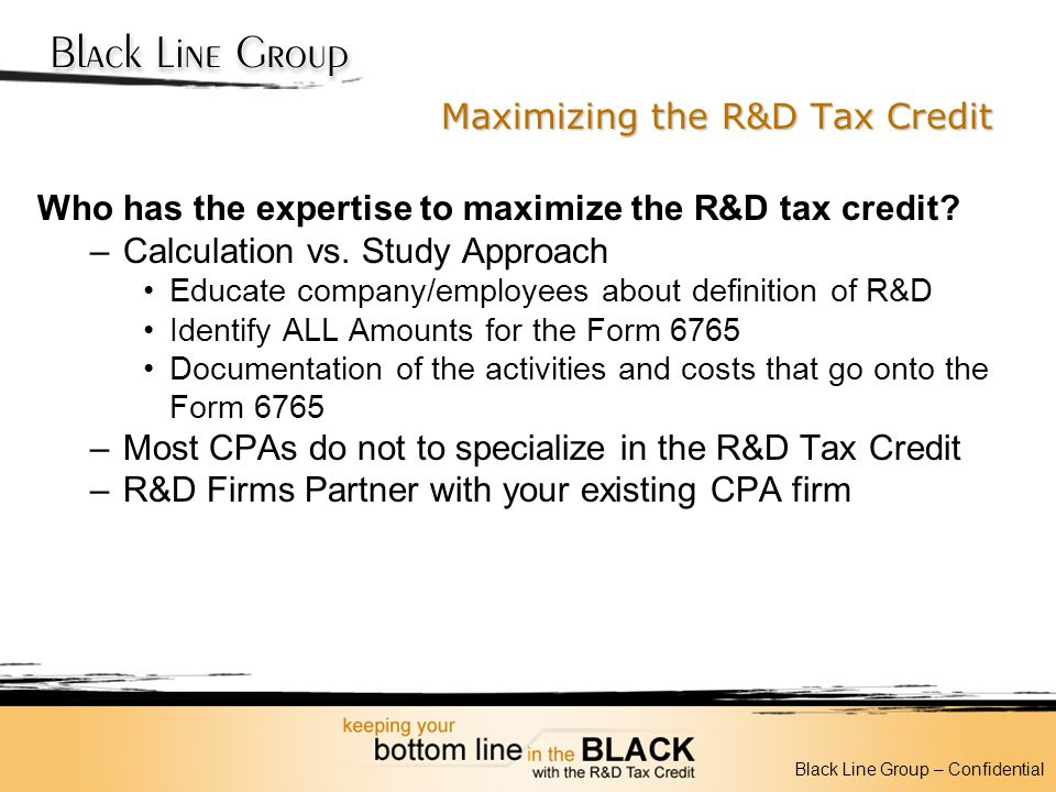 Maximizing the R&D Tax Credit