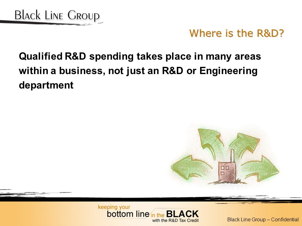 Where is the R&D Qualified R&D spending takes place in many areas within a business, not just an R&D or Engineering department