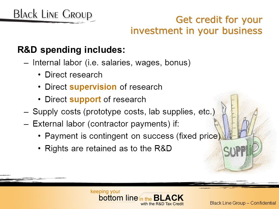 Get credit for your investment in your business