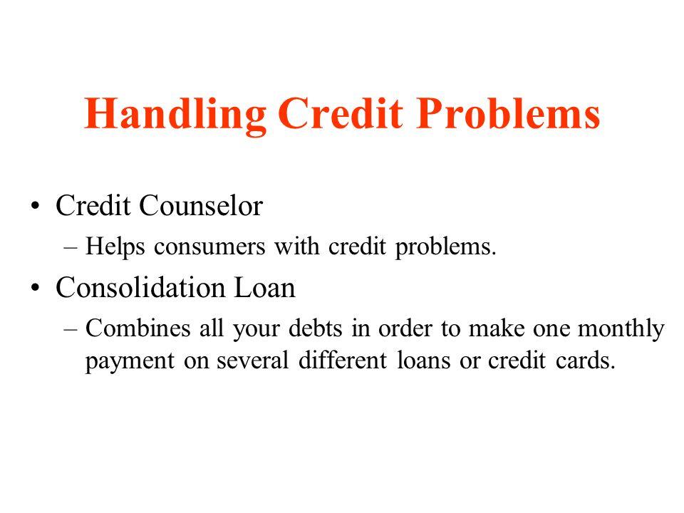 Handling Credit Problems