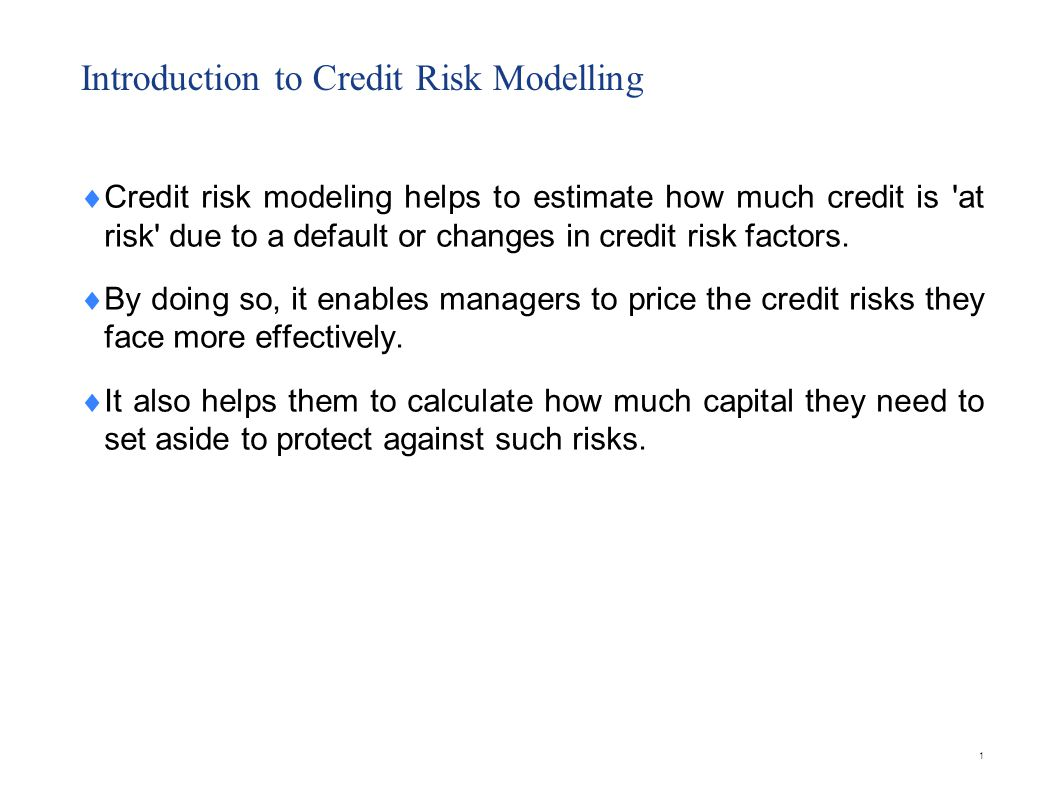 Market Risk vs Credit Risk Modelling