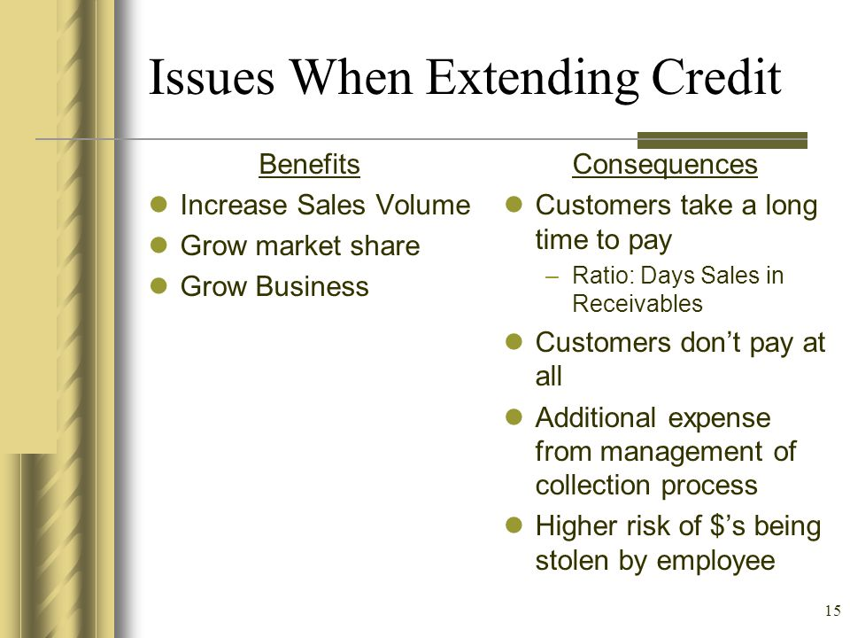 Issues When Extending Credit