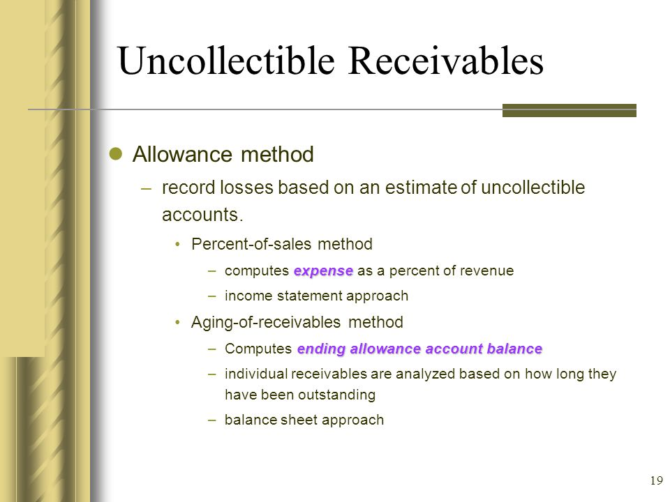 Uncollectible Receivables