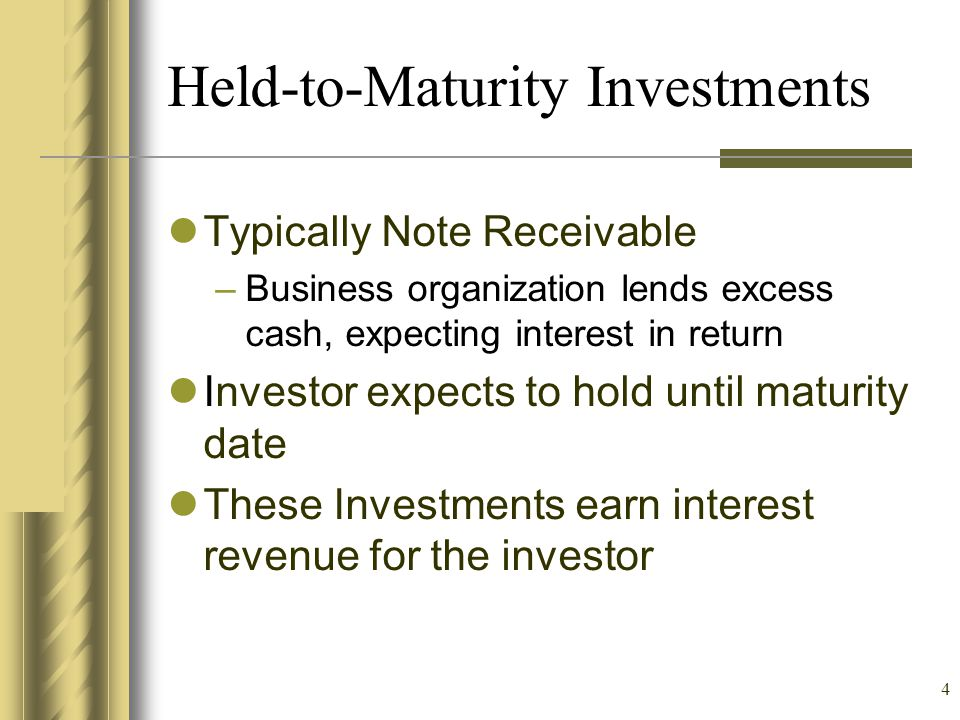 Held-to-Maturity Investments