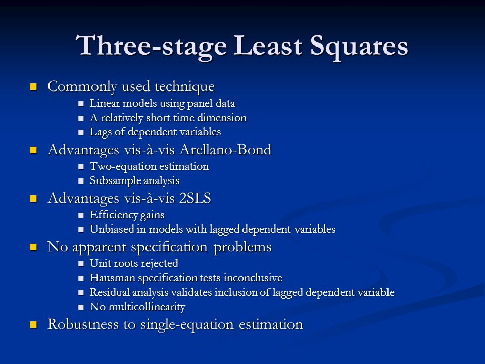 Three-stage Least Squares