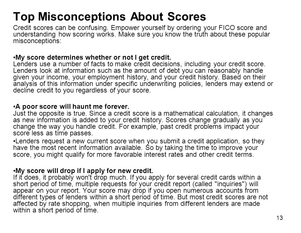 Top Misconceptions About Scores