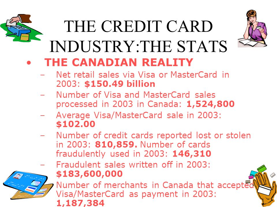 THE CREDIT CARD INDUSTRY:THE STATS