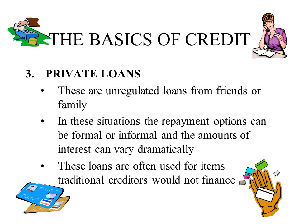 THE BASICS OF CREDIT PRIVATE LOANS
