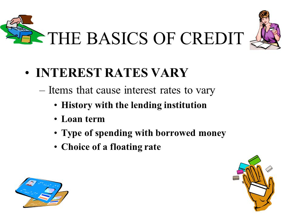 THE BASICS OF CREDIT INTEREST RATES VARY