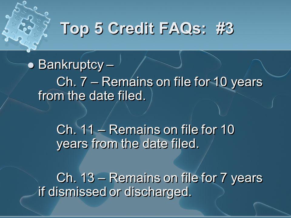 Top 5 Credit FAQs: #3 Bankruptcy –