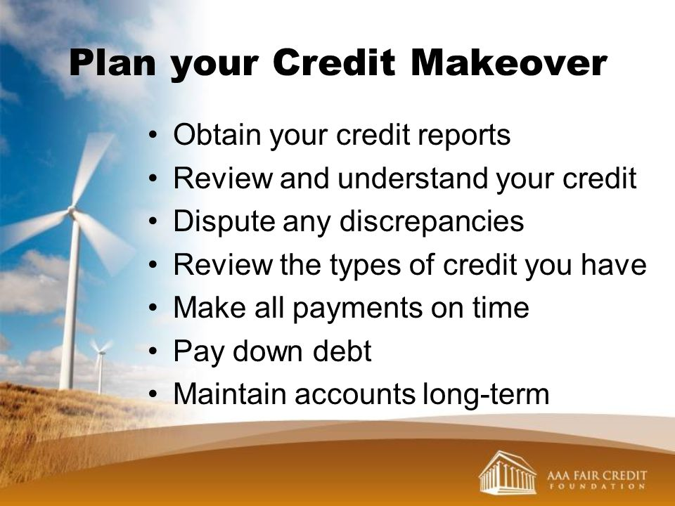 Plan your Credit Makeover