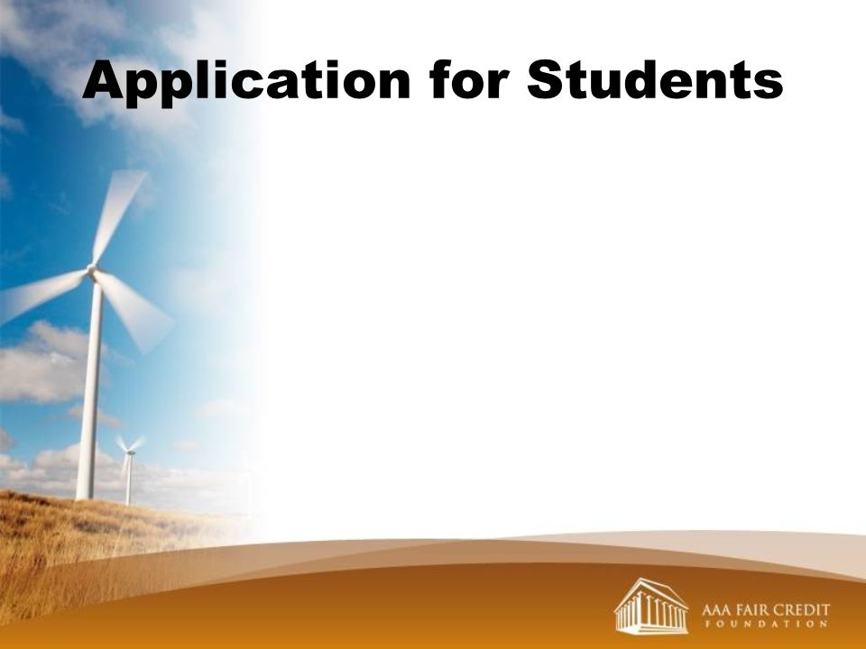 Application for Students
