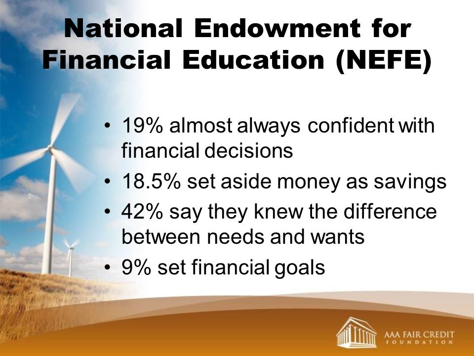 National Endowment for Financial Education (NEFE)