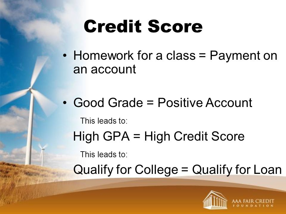 Credit Score Homework for a class = Payment on an account