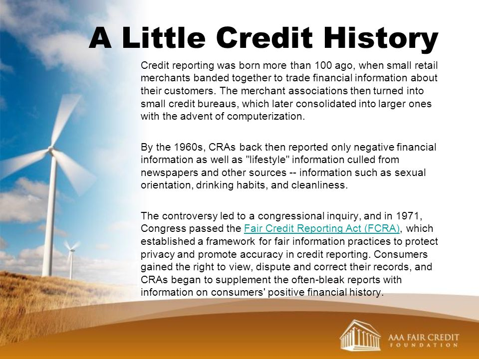 A Little Credit History