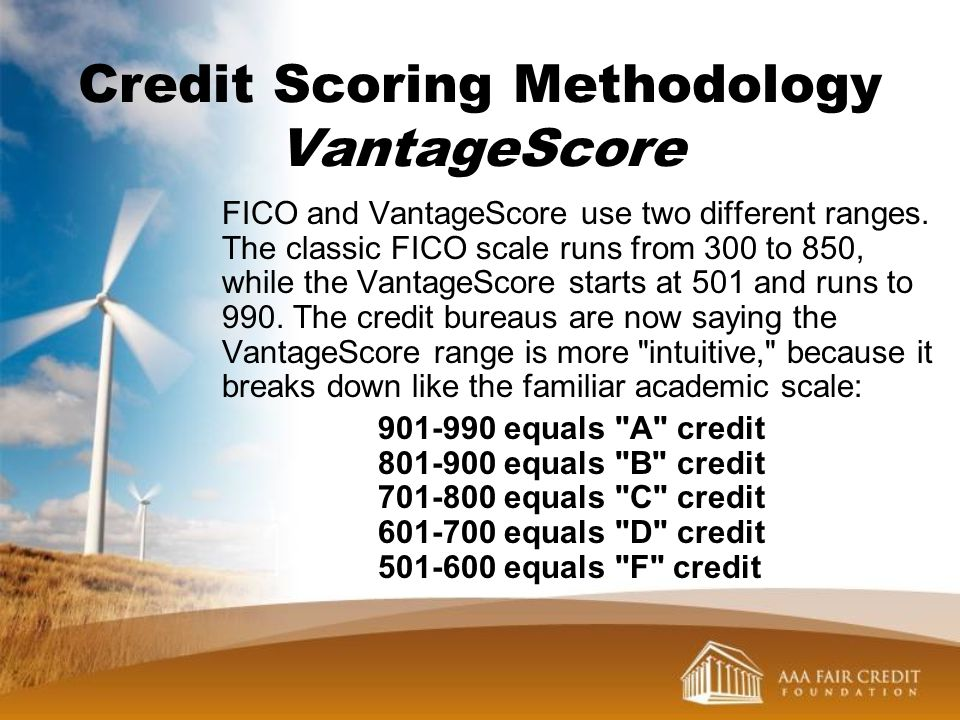Credit Scoring Methodology VantageScore