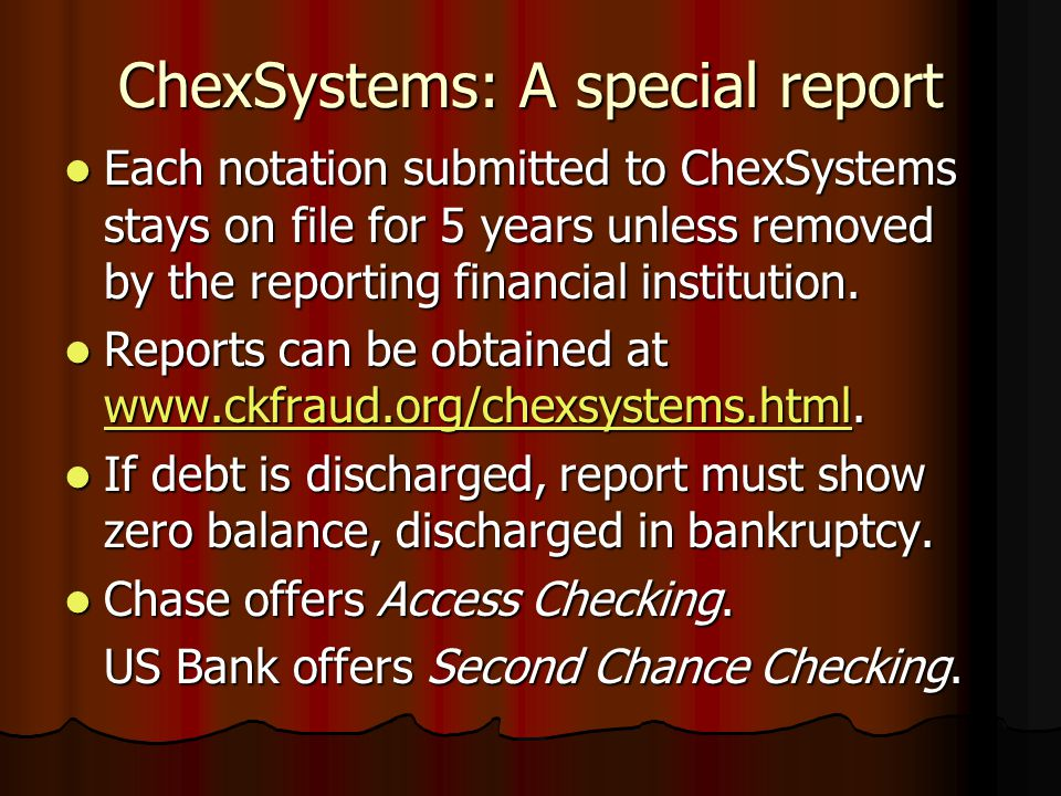ChexSystems: A special report