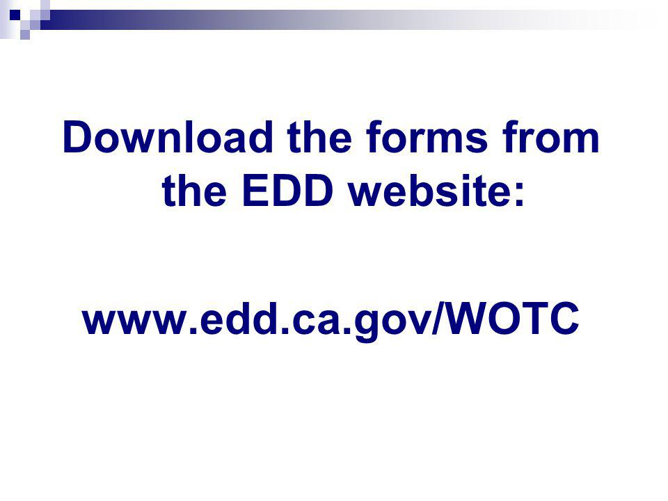 Download the forms from the EDD website: