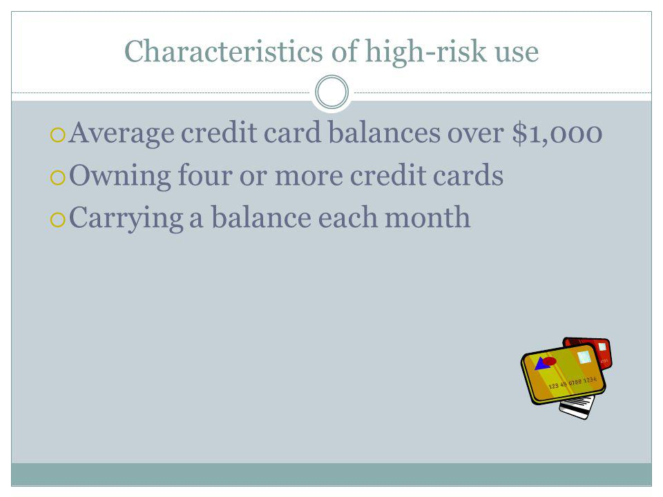 Characteristics of high-risk use