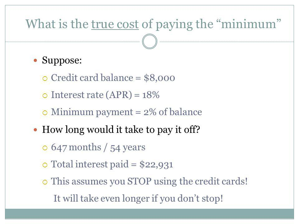 What is the true cost of paying the minimum