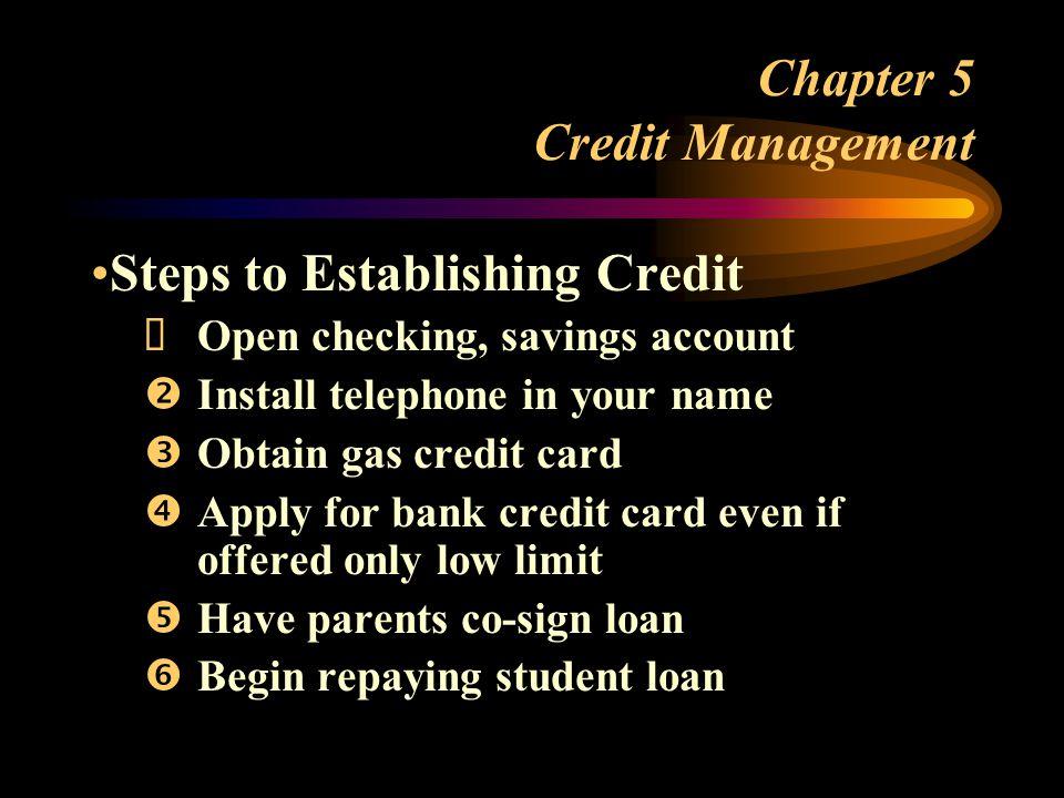 Chapter 5 Credit Management