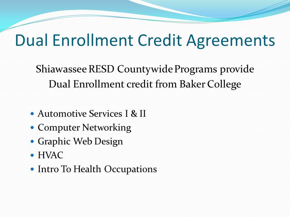 Dual Enrollment Credit Agreements