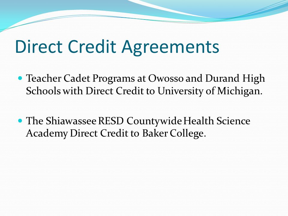 Direct Credit Agreements