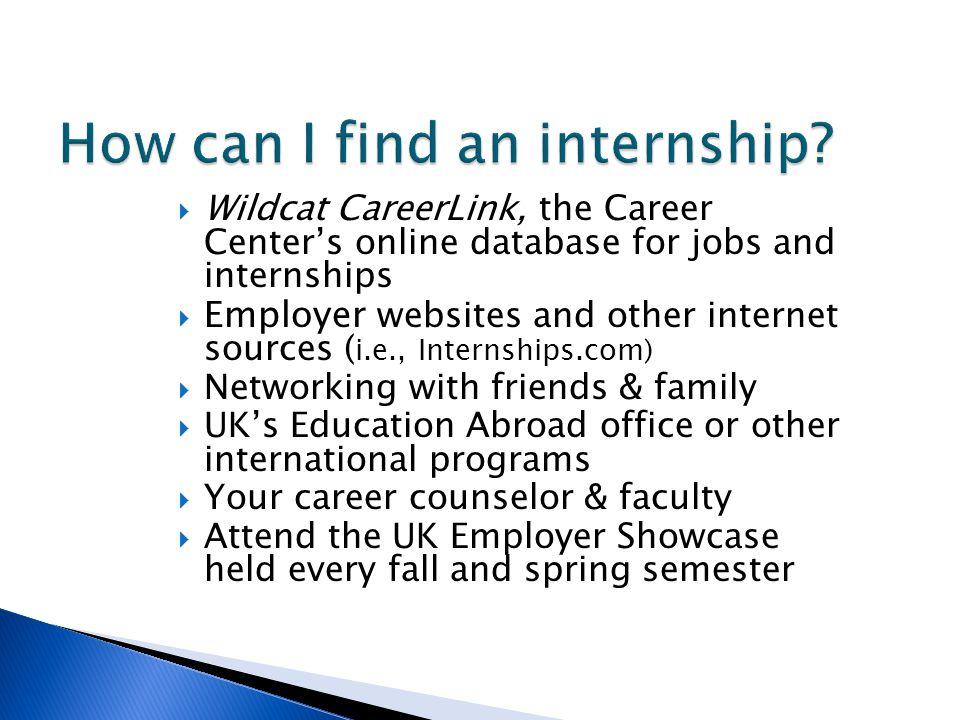 How can I find an internship