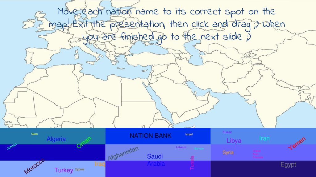 MIDDLE EAST INTERACTIVE MAP - ppt download