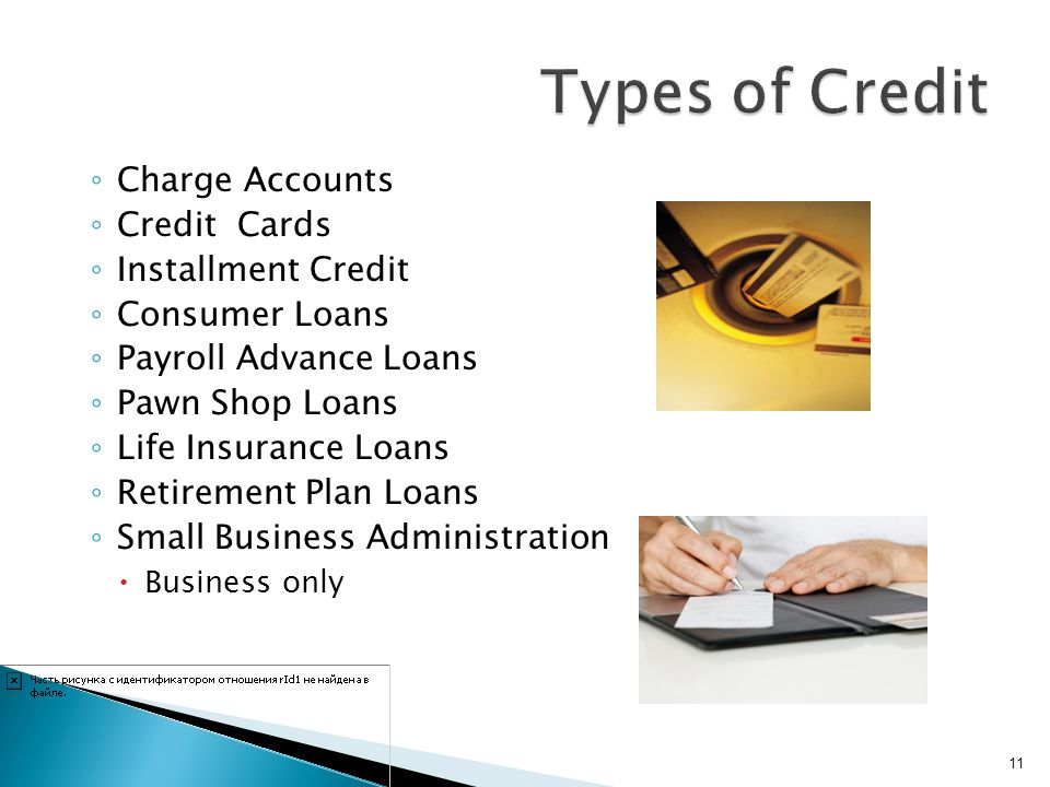 Types of Credit Charge Accounts Credit Cards Installment Credit