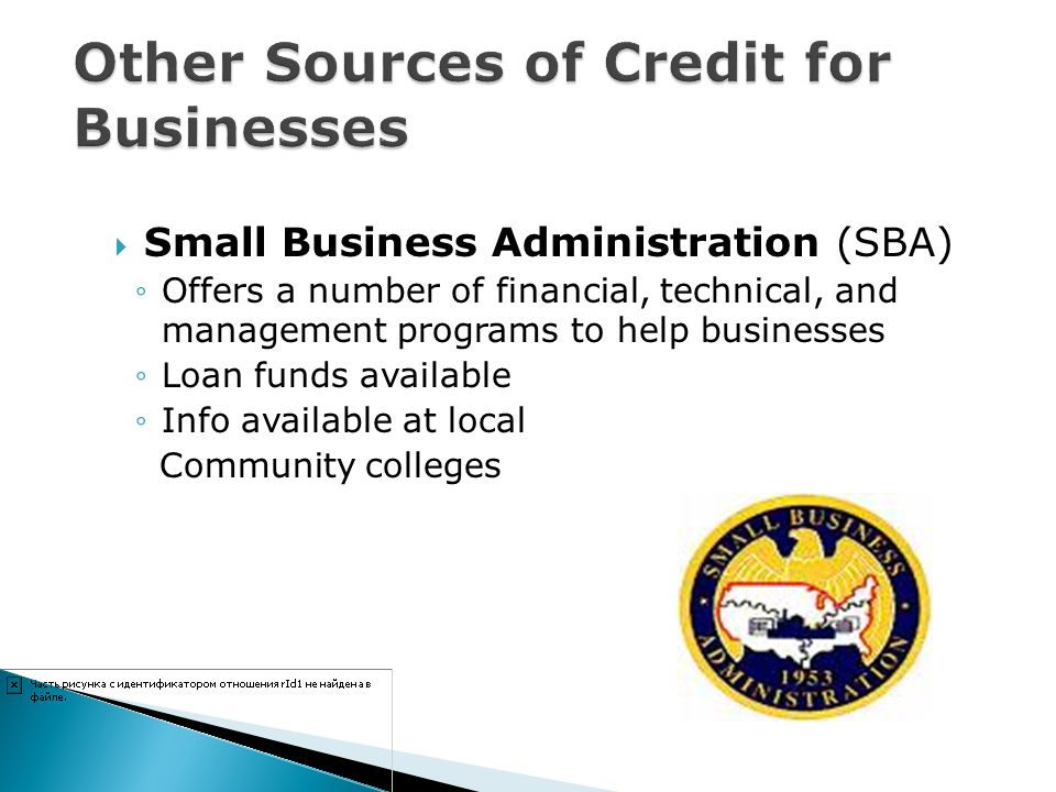 Other Sources of Credit for Businesses