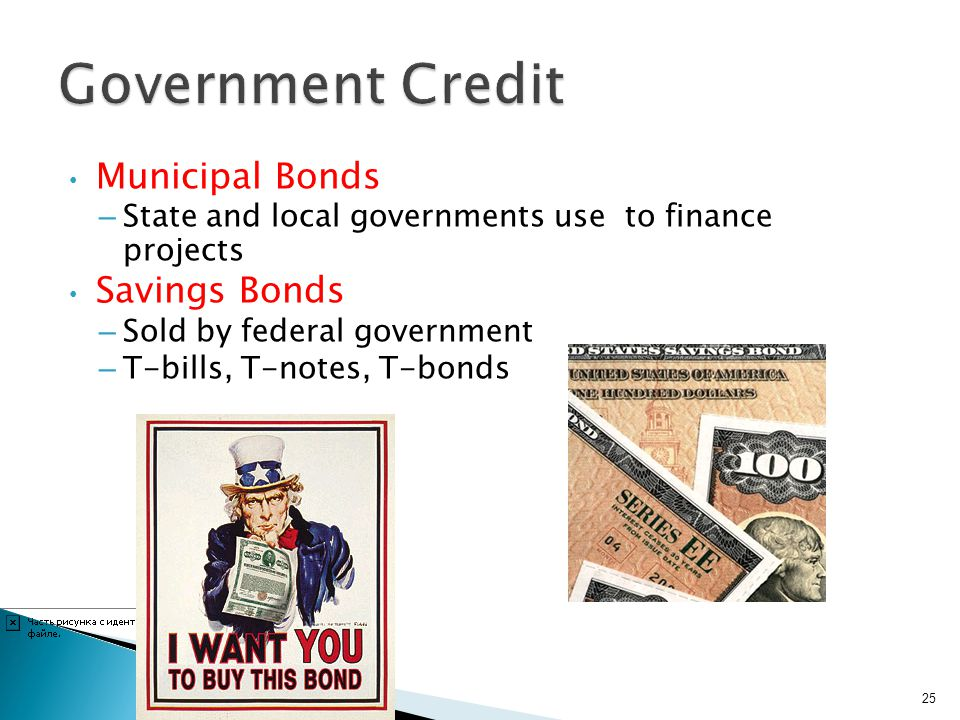 Government Credit Municipal Bonds Savings Bonds