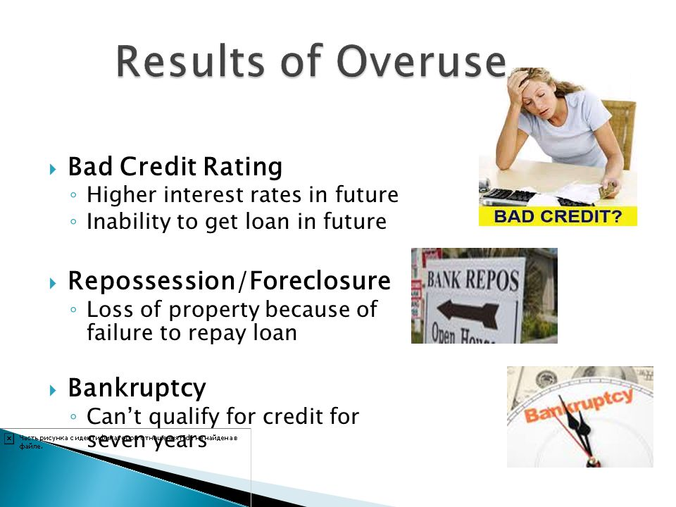 Results of Overuse Bad Credit Rating Repossession/Foreclosure