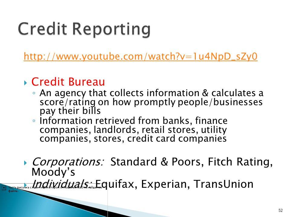 Credit Reporting Credit Bureau
