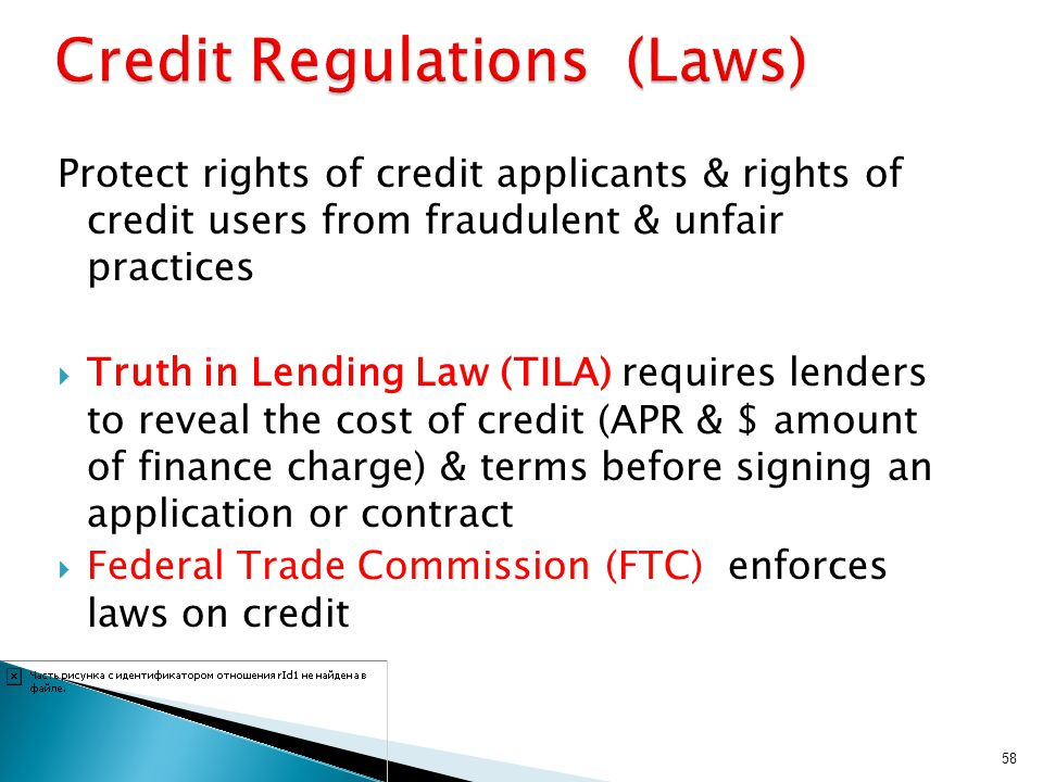 Credit Regulations (Laws)