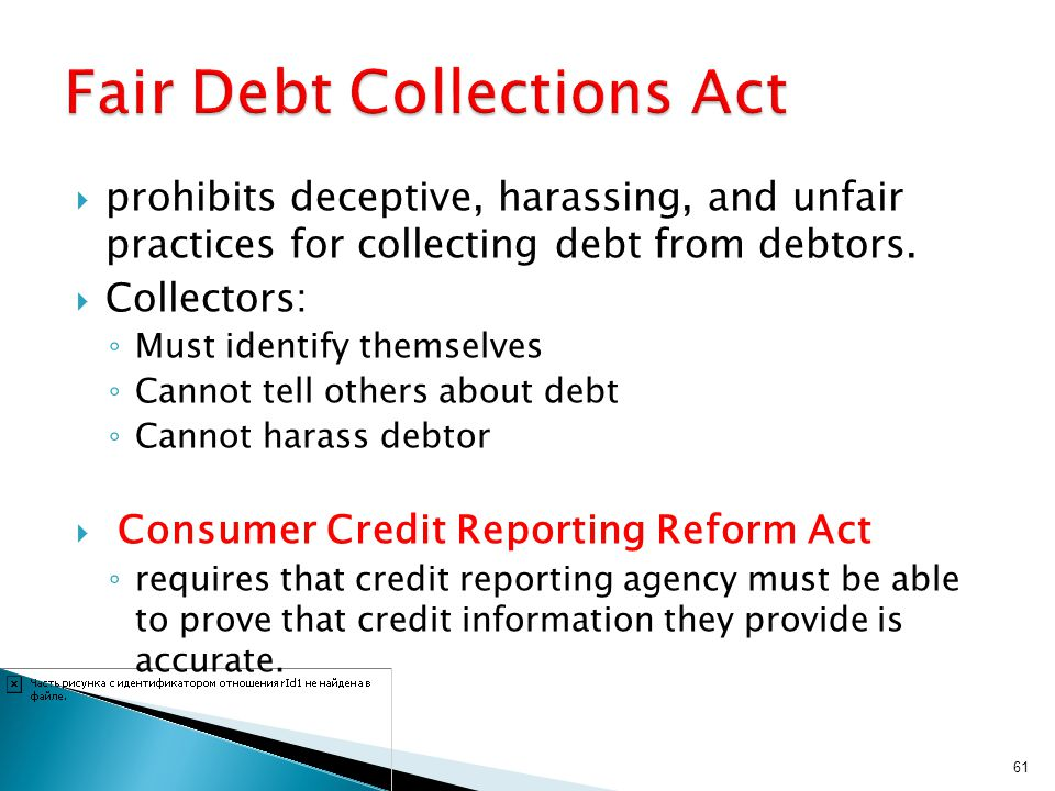 Fair Debt Collections Act