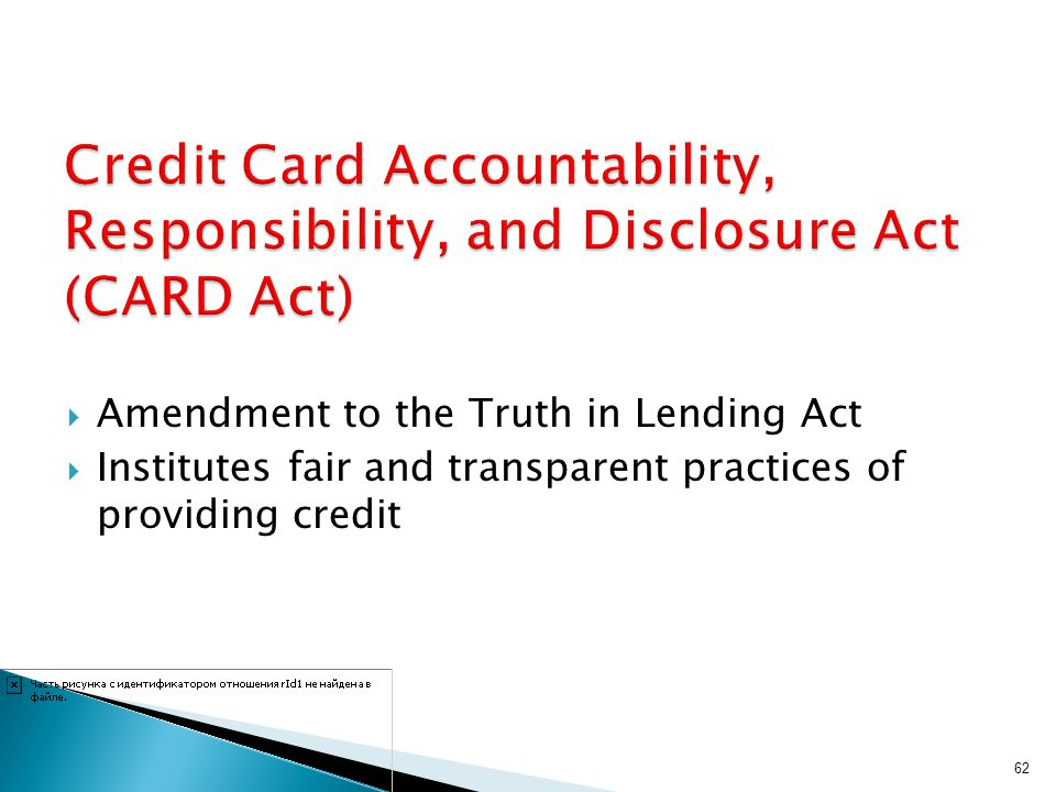 Credit Card Accountability, Responsibility, and Disclosure Act (CARD Act)