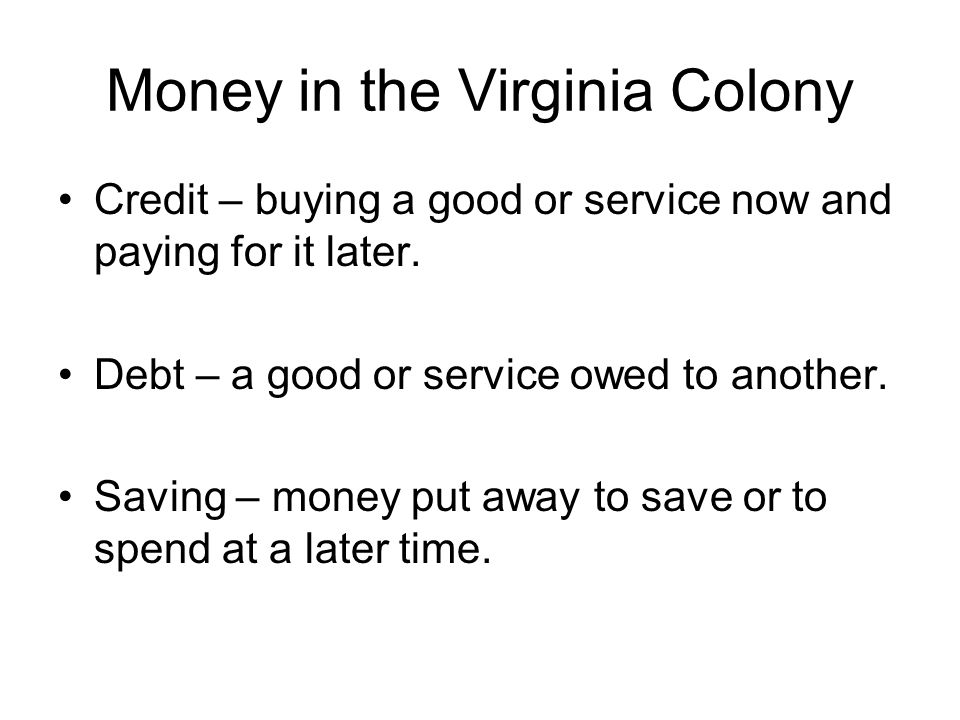 Money in the Virginia Colony