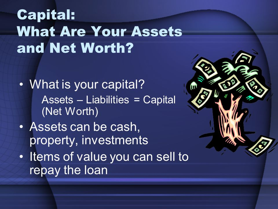 Capital: What Are Your Assets and Net Worth